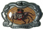 HOWDY SPIDER TATTOO Belt Buckle + display stand